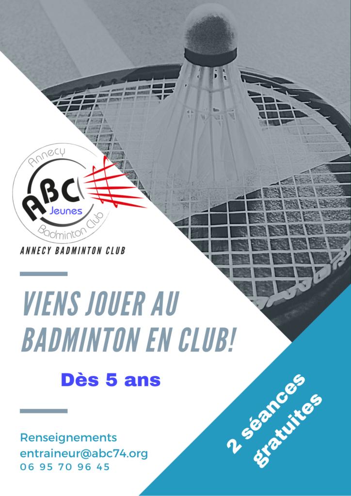 Le badminton c'est dès 5 ans!